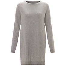 Buy Minimum Zina Knit Jumper, Light Grey Melange Online at johnlewis.com