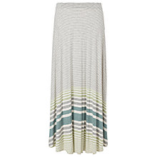 Buy Max Studio Stripe Maxi Skirt, Light Grey/Bone Online at johnlewis.com