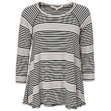 Buy Max Studio 3/4 Length Sleeve Jersey Top, Black/Bone Online at johnlewis.com