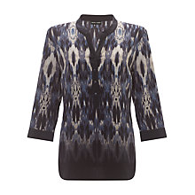 Buy Gerry Weber Aztec Print Shirt, Indigo Online at johnlewis.com