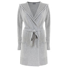 Buy Hygge by Mint Velvet Hooded Wrap Cardigan, Grey Online at johnlewis.com