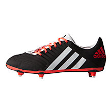 Buy Adidas Incurza TRX SG Men's Rugby Boots, Core Black/Solar Red Online at johnlewis.com