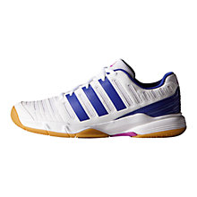 Buy Adidas Essence Women's Indoor Court Shoes, White/Light Flash Purple Online at johnlewis.com