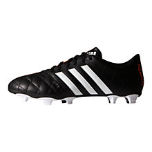Buy Adidas 11Questra FG Football Boots, Core Black Online at johnlewis.com