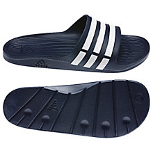 Buy Adidas Duramo Men's Pool Slides, Blue Online at johnlewis.com