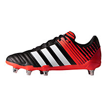 Buy Adidas Regulate Kakari SG Men's Rugby Boots, Core Black/Solar Red Online at johnlewis.com