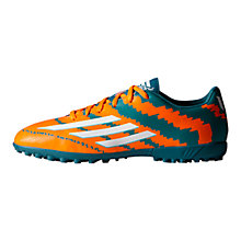 Buy Adidas Messi Mirosar10 10.4 TF Men's Football Boots, Power Teal/Solar Orange Online at johnlewis.com