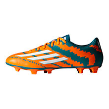 Buy Adidas Messi Mirosar10 10.4 FG Men's Football Boots, Power Teal/Solar Orange Online at johnlewis.com