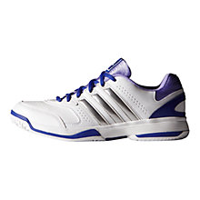 Buy Adidas Response Aspire Women's Tennis Shoes, White/Light Flash Purple Online at johnlewis.com