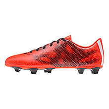 Buy Adidas F5 FG Men's Football Boots, Solar Red/Core Black Online at johnlewis.com