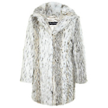 Buy Miss Selfridge Snow Leopard Faux Fur Coat, Multi Online at johnlewis.com