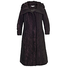 Buy Chesca Stud Trim Quilted Coat, Aubergine Online at johnlewis.com
