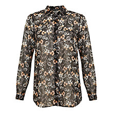Buy Miss Selfridge Maxine Floral Shirt, Multi Online at johnlewis.com