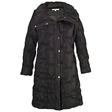 Buy Chesca Quilted Bonfire Coat, Black Online at johnlewis.com