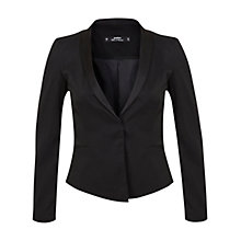 Buy Miss Selfridge Petite Tuxedo Blazer, Black Online at johnlewis.com
