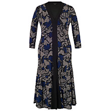 Buy Chesca Dot Leaf Print Jersey Dress, Black/Blue Online at johnlewis.com