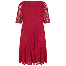 Buy Adrianna Papell Plus Size Lace Fractured Dress, Flare Red Online at johnlewis.com