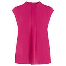 Buy Warehouse Clean High Neck Top, Bright Pink Online at johnlewis.com
