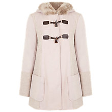 Buy Miss Selfridge Textured Duffle Coat, Taupe Online at johnlewis.com