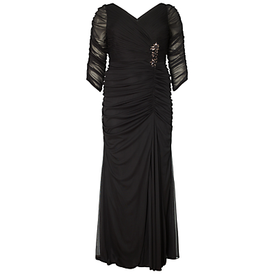 Adrianna Papell Plus Size Drape Covered Gown