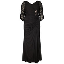Buy Adrianna Papell Plus Size Drape Covered Gown Online at johnlewis.com