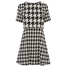 Buy Oasis Dog Tooth Patched Dress, Multi Online at johnlewis.com