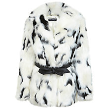Buy Miss Selfridge Dalmatian Faux Fur Coat, Multi Online at johnlewis.com