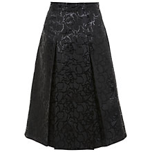 Buy Miss Selfridge Jacquard Midi Skirt, Black Online at johnlewis.com
