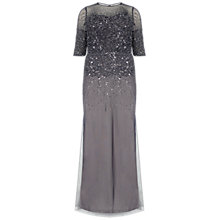 Buy Adrianna Papell Plus Size Beaded Illusion Gown Online at johnlewis.com