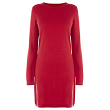 Buy Warehouse Shift Dress, Light Red Online at johnlewis.com