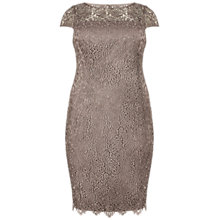 Buy Adrianna Papell Plus Size Lace Shift Dress, Buff Online at johnlewis.com
