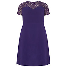 Buy Adrianna Papell Plus Size Lace Sweetheart Dress, Purple Online at johnlewis.com