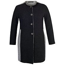 Buy Chesca Collarless Coat, Charcoal Online at johnlewis.com