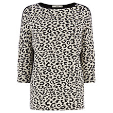Buy Oasis Animal Textured Jumper, Multi Online at johnlewis.com