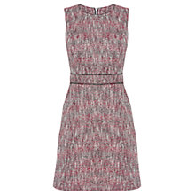 Buy Warehouse Sparkle Tweed Shift Dress, Red Online at johnlewis.com