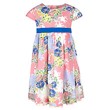Buy John Lewis Girl Floral Print Dress, Pink/Multi Online at johnlewis.com