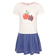 Buy John Lewis Girl Cherry Jersey Dress, Chintz Rose Online at johnlewis.com