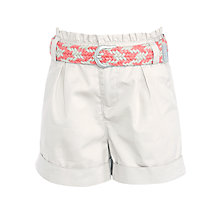 Buy John Lewis Girl Twill Shorts, Grey Online at johnlewis.com