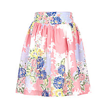 Buy John Lewis Girl Floral Print Skirt, Pink/Multi Online at johnlewis.com