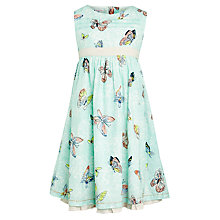 Buy John Lewis Girl Butterfly Print Dress, Aqua Online at johnlewis.com