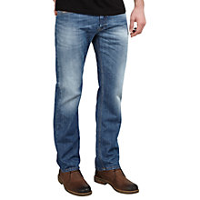 Buy Diesel Waykee Straight Jeans, Light Blue 039C Online at johnlewis.com