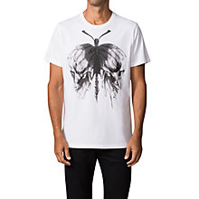 Buy Diesel T-Aikos Skull T-Shirt, White Online at johnlewis.com