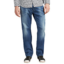 Buy Diesel Larkee Relaxed Straight Jeans, Mid Blue Online at johnlewis.com