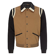 Buy Diesel J-Toku Contrast Sleeve Varsity Jacket, Brown Online at johnlewis.com