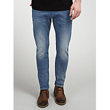 Buy Diesel Tepphar 0665H Slim Carrot Jeans, Light Blue Online at johnlewis.com