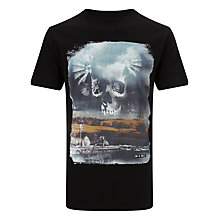 Buy Diesel T-Nikos Printed T-Shirt, Black Online at johnlewis.com
