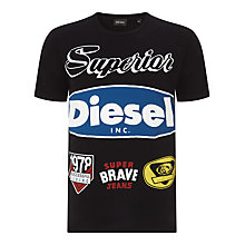 Buy Diesel Chrestos Logo T-Shirt Online at johnlewis.com