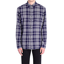 Buy Diesel S-Zoeno Herringbone Check Shirt, Navy Online at johnlewis.com