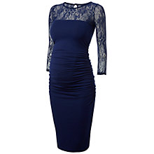 Buy Isabella Oliver Baylis Lace Maternity Dress, Navy Online at johnlewis.com