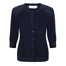 Buy Collection WEEKEND by John Lewis Broderie Front Cardigan Online at johnlewis.com